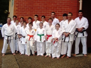 Doug Smerek from Canada Seiwakai with Group from Ct Clair Dojo