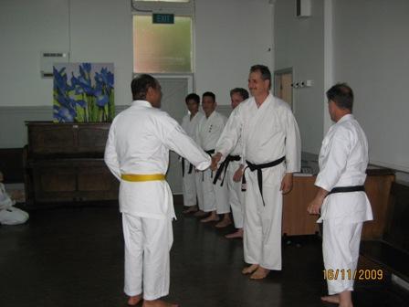 John get Encouragment from Senseis 2009