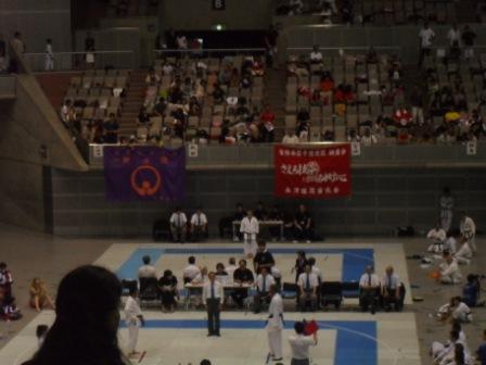 Glenn Stephenson at JKF Gojukai Final in Mens over 50 Masters Kata 2012