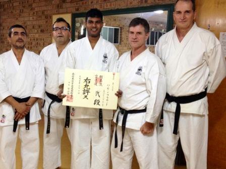 Parveen Prasad Recieves his 2nd Dan in JKF Gojukai