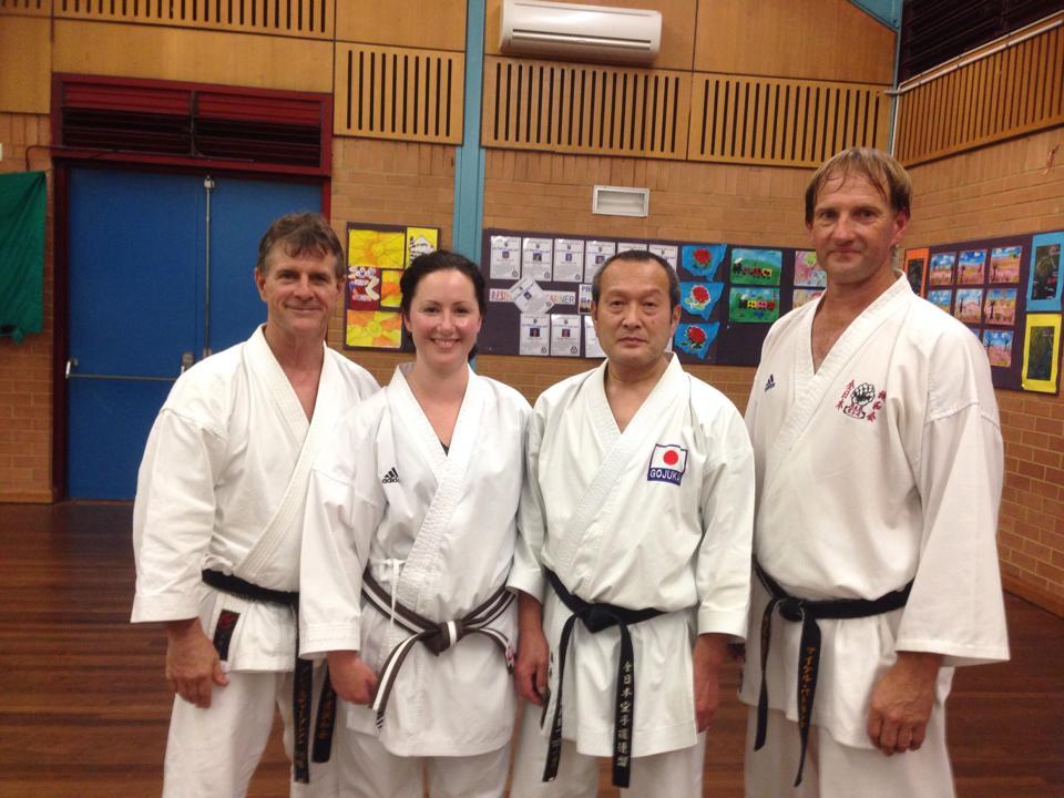 Seiichi Fujiwara Hanshi and Glenn Stephenson Shihan in Australia