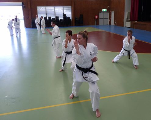 Performing Kata with Glenn Stephenson Shihan