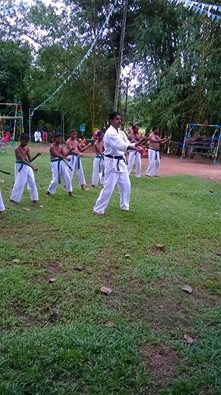 Damith Bandara Sensei showing the way in Sri Lanka